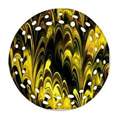 Fractal Marbled 15 Ornament (Round Filigree)