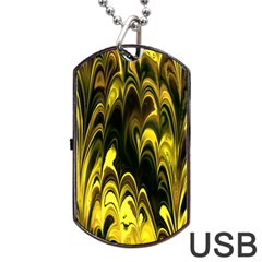 Fractal Marbled 15 Dog Tag Usb Flash (one Side)