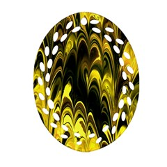 Fractal Marbled 15 Oval Filigree Ornament (2-Side)