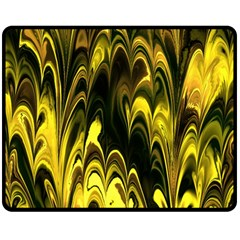 Fractal Marbled 15 Double Sided Fleece Blanket (Medium)