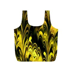 Fractal Marbled 15 Full Print Recycle Bags (s)