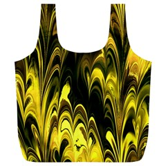 Fractal Marbled 15 Full Print Recycle Bags (l)