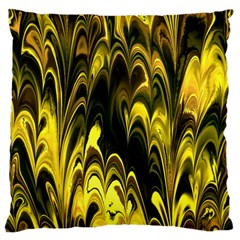Fractal Marbled 15 Large Flano Cushion Cases (One Side)