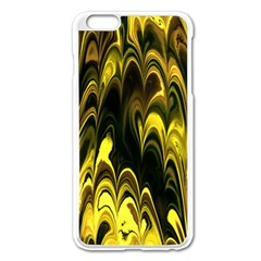 Fractal Marbled 15 Apple Iphone 6 Plus Enamel White Case