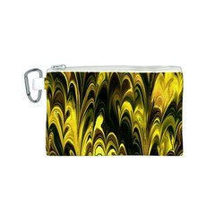 Fractal Marbled 15 Canvas Cosmetic Bag (S)