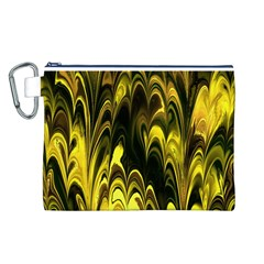 Fractal Marbled 15 Canvas Cosmetic Bag (L)