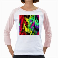 Fractal Marbled 14 Girly Raglans