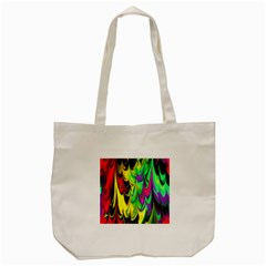 Fractal Marbled 14 Tote Bag (Cream)