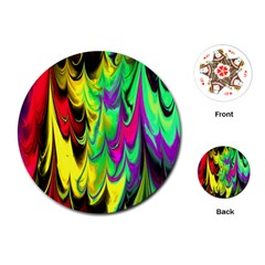 Fractal Marbled 14 Playing Cards (Round)