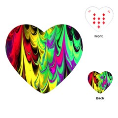Fractal Marbled 14 Playing Cards (Heart)