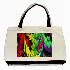 Fractal Marbled 14 Basic Tote Bag