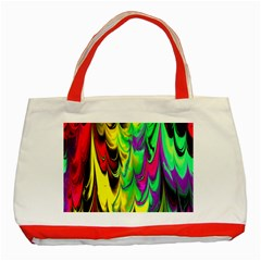 Fractal Marbled 14 Classic Tote Bag (red)