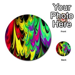 Fractal Marbled 14 Multi-purpose Cards (Round)