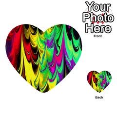 Fractal Marbled 14 Multi-purpose Cards (Heart)