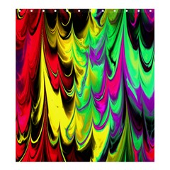 Fractal Marbled 14 Shower Curtain 66  x 72  (Large)