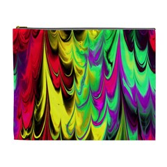 Fractal Marbled 14 Cosmetic Bag (xl)