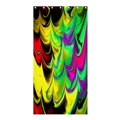 Fractal Marbled 14 Shower Curtain 36  X 72  (stall)