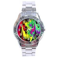 Fractal Marbled 14 Stainless Steel Men s Watch