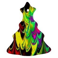 Fractal Marbled 14 Christmas Tree Ornament (2 Sides)