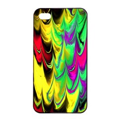 Fractal Marbled 14 Apple iPhone 4/4s Seamless Case (Black)