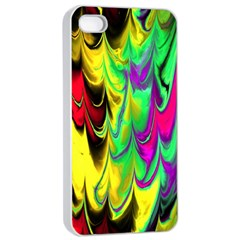 Fractal Marbled 14 Apple iPhone 4/4s Seamless Case (White)