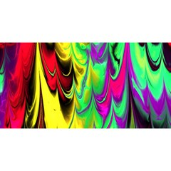 Fractal Marbled 14 YOU ARE INVITED 3D Greeting Card (8x4)