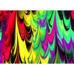 Fractal Marbled 14 Birthday Cake 3d Greeting Card (7x5)