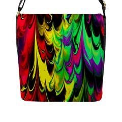 Fractal Marbled 14 Flap Messenger Bag (l)