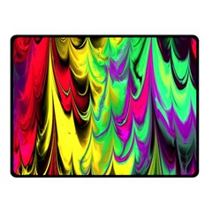 Fractal Marbled 14 Double Sided Fleece Blanket (Small)