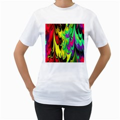 Fractal Marbled 14 Women s T Shirt (white)
