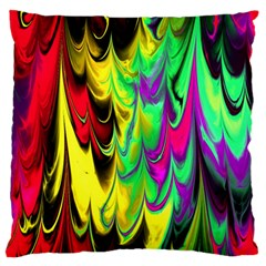 Fractal Marbled 14 Large Flano Cushion Cases (one Side)
