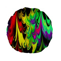 Fractal Marbled 14 Standard 15  Premium Flano Round Cushions