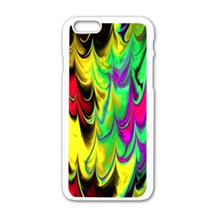 Fractal Marbled 14 Apple Iphone 6 White Enamel Case