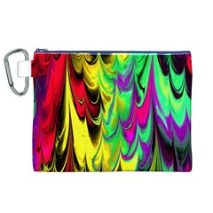 Fractal Marbled 14 Canvas Cosmetic Bag (xl)