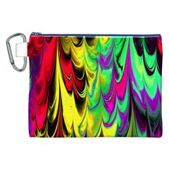 Fractal Marbled 14 Canvas Cosmetic Bag (XXL)