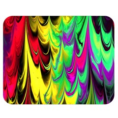 Fractal Marbled 14 Double Sided Flano Blanket (medium)