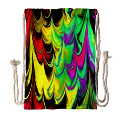 Fractal Marbled 14 Drawstring Bag (Large)