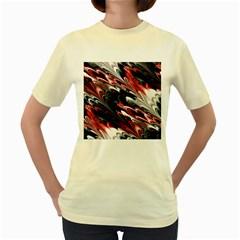 Fractal Marbled 8 Women s Yellow T Shirt