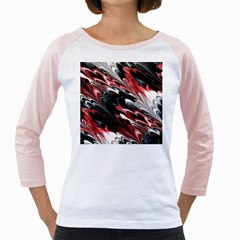 Fractal Marbled 8 Girly Raglans