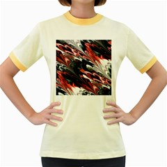 Fractal Marbled 8 Women s Fitted Ringer T-Shirts