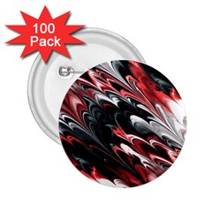 Fractal Marbled 8 2 25  Buttons (100 Pack)