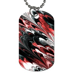 Fractal Marbled 8 Dog Tag (two Sides)