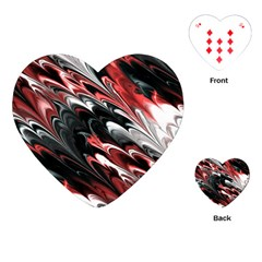 Fractal Marbled 8 Playing Cards (Heart)