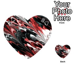 Fractal Marbled 8 Playing Cards 54 (Heart)