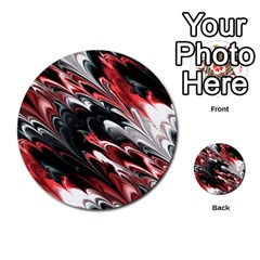 Fractal Marbled 8 Multi Purpose Cards (round)