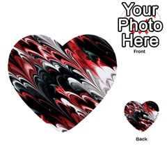 Fractal Marbled 8 Multi Purpose Cards (heart)