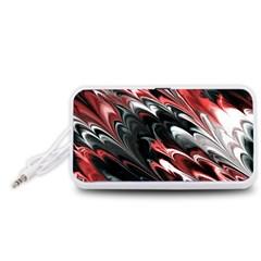 Fractal Marbled 8 Portable Speaker (White)