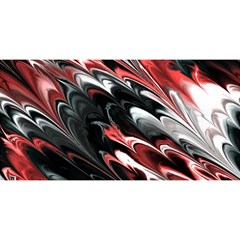 Fractal Marbled 8 You Are Invited 3d Greeting Card (8x4)