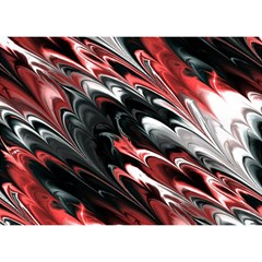 Fractal Marbled 8 Birthday Cake 3D Greeting Card (7x5)