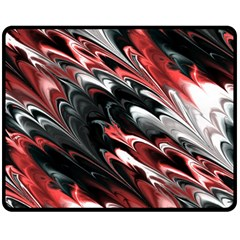 Fractal Marbled 8 Double Sided Fleece Blanket (Medium)